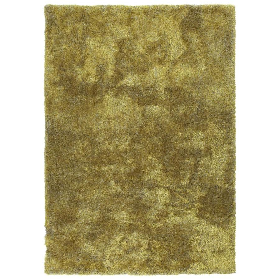 Kaleen Its So Fabulous Lime Green Indoor Handcrafted Throw Rug (Common: 3 x 5; Actual: 3-ft W x 5-ft L)