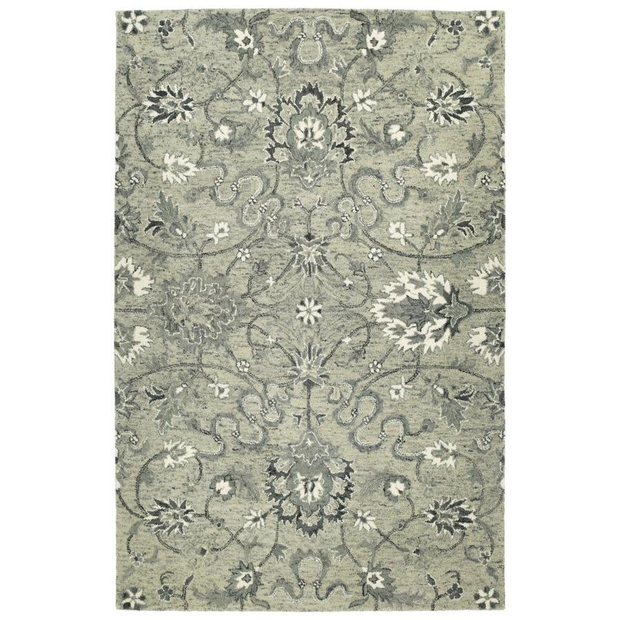 Kaleen Chancellor Grey Indoor Handcrafted Nature Area Rug (Common: 5 x 8; Actual: 5-ft W x 7.75-ft L)