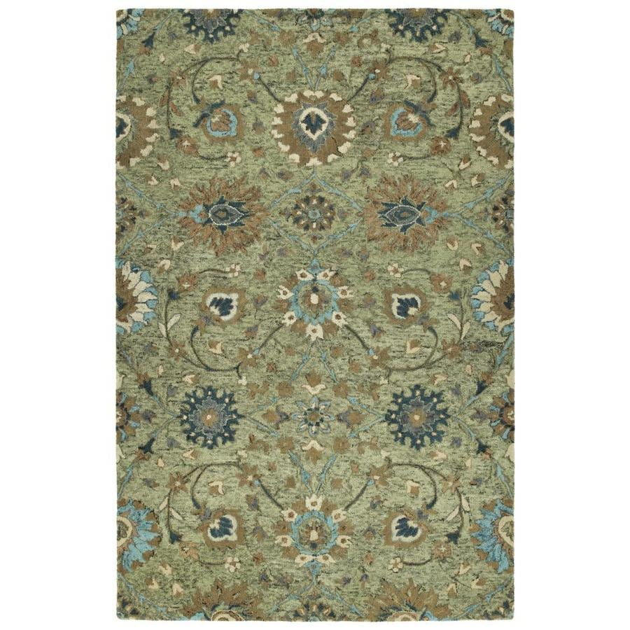 Kaleen Chancellor Sage Indoor Handcrafted Nature Area Rug (Common: 5 x 8; Actual: 5-ft W x 7.75-ft L)