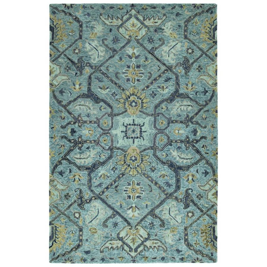 Kaleen Chancellor Blue Indoor Handcrafted Nature Area Rug (Common: 5 x 8; Actual: 5-ft W x 7.75-ft L)