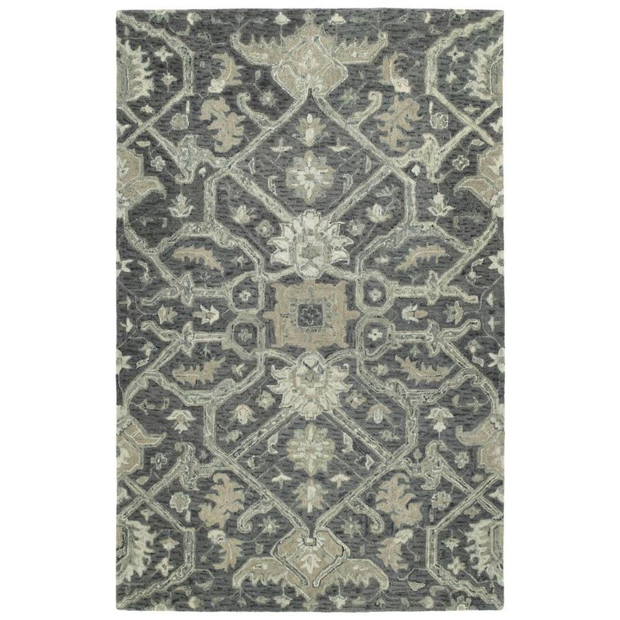 Kaleen Chancellor Graphite Indoor Handcrafted Nature Area Rug (Common: 5 x 8; Actual: 5-ft W x 7.75-ft L)