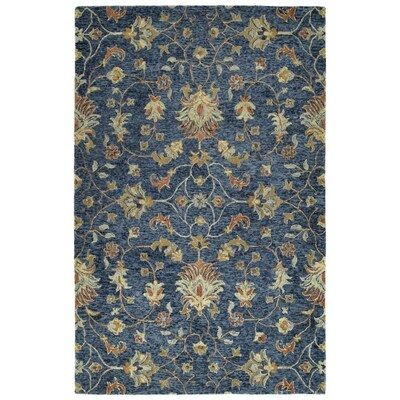 Kaleen Chancellor 8 X 10 Denim Indoor Floral Botanical Tropical Handcrafted Area Rug In The Rugs Department At Lowes Com
