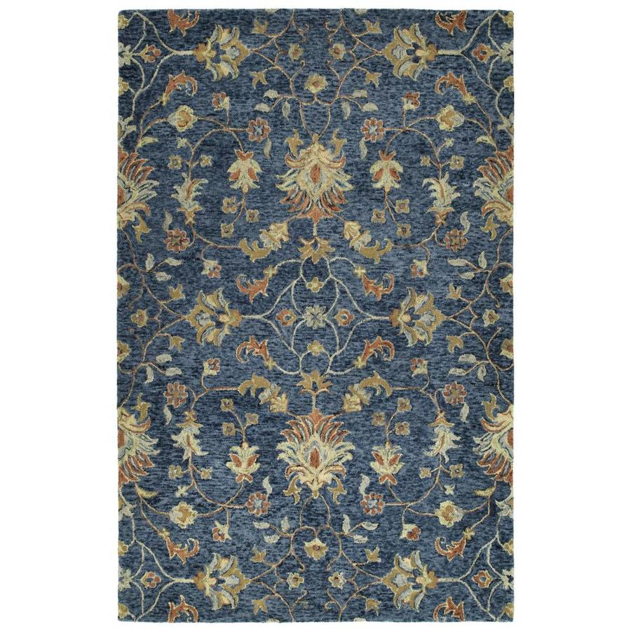 Kaleen Chancellor Denim Indoor Handcrafted Nature Area Rug (Common: 9 x 12; Actual: 9-ft W x 12-ft L)