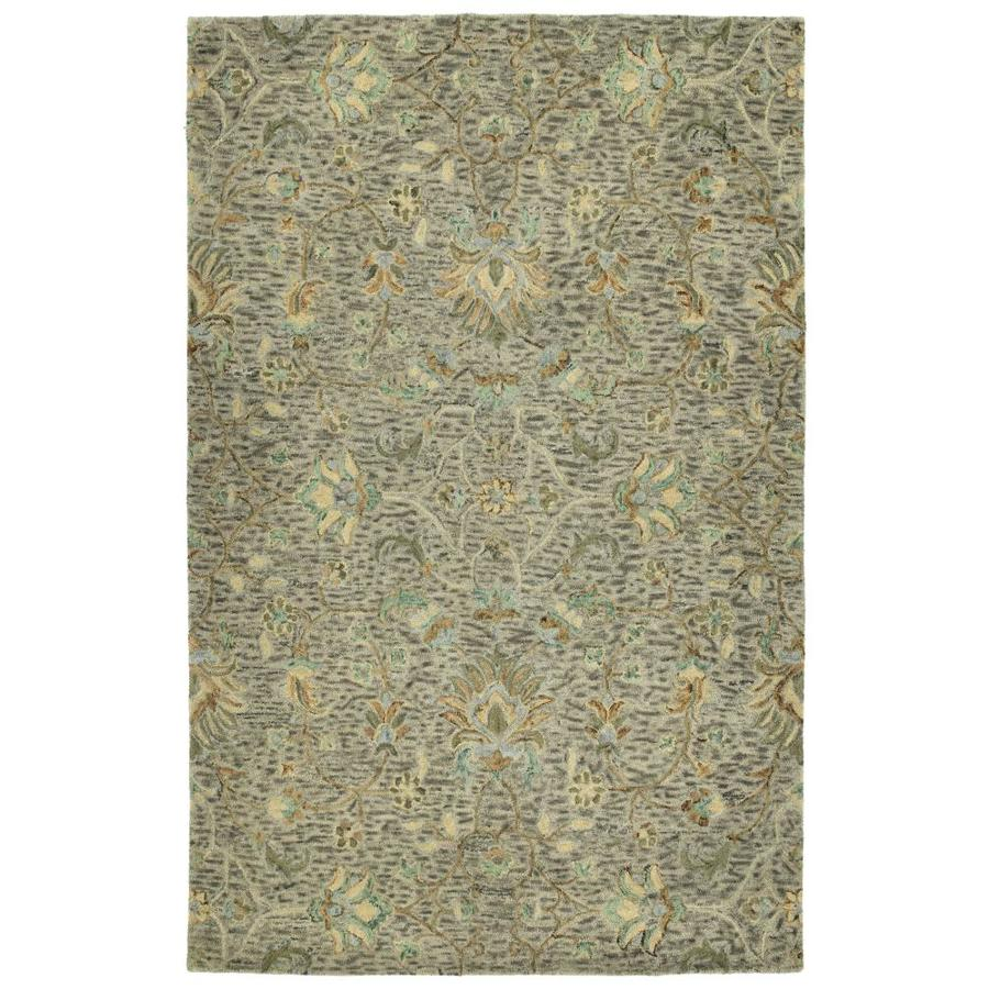 Kaleen Chancellor Taupe Indoor Handcrafted Nature Area Rug (Common: 5 x 8; Actual: 5-ft W x 7.75-ft L)