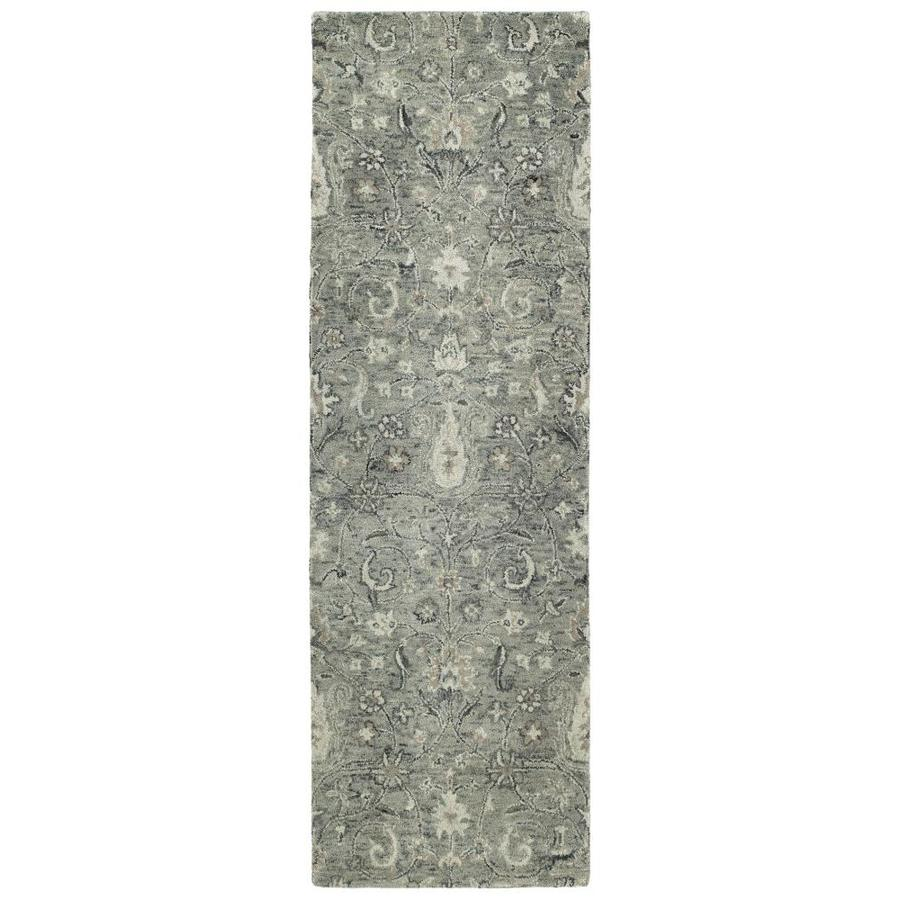 Kaleen Chancellor Grey Indoor Handcrafted Nature Runner (Common: 3 x 8; Actual: 2.5-ft W x 8-ft L)
