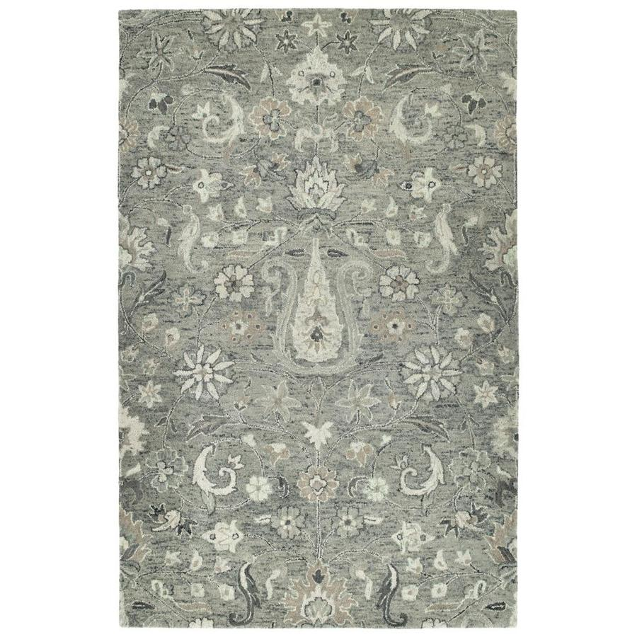 Kaleen Chancellor Grey Indoor Handcrafted Nature Area Rug (Common: 8 x 10; Actual: 8-ft W x 10-ft L)