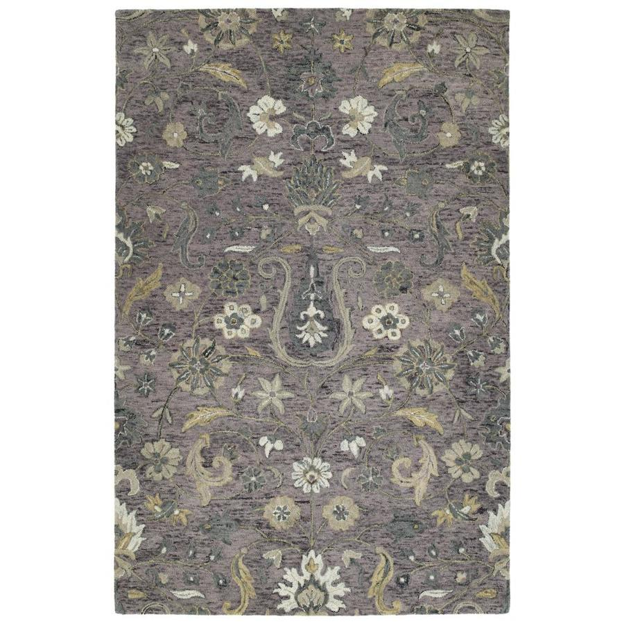 Kaleen Chancellor Lilac Indoor Handcrafted Nature Area Rug (Common: 4 x 6; Actual: 4-ft W x 6-ft L)