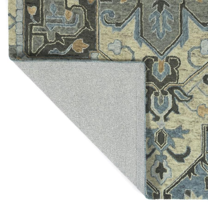 Kaleen Chancellor 10 X 14 Blue Indoor Floral Botanical Bohemian Eclectic Handcrafted Area Rug In The Rugs Department At Lowes Com
