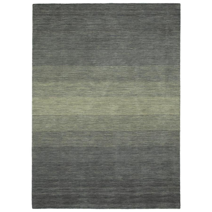 Kaleen Shades 10 X 13 Grey Indoor Stripe Handcrafted Area Rug In The Rugs Department At Lowes Com