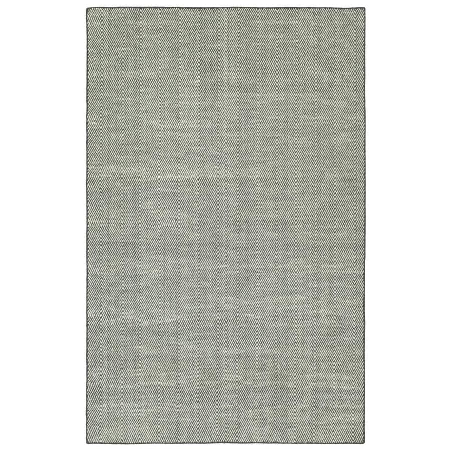 Kaleen Ziggy Grey Indoor/Outdoor Handcrafted Throw Rug (Common: 3 x 5; Actual: 3-ft W x 5-ft L)