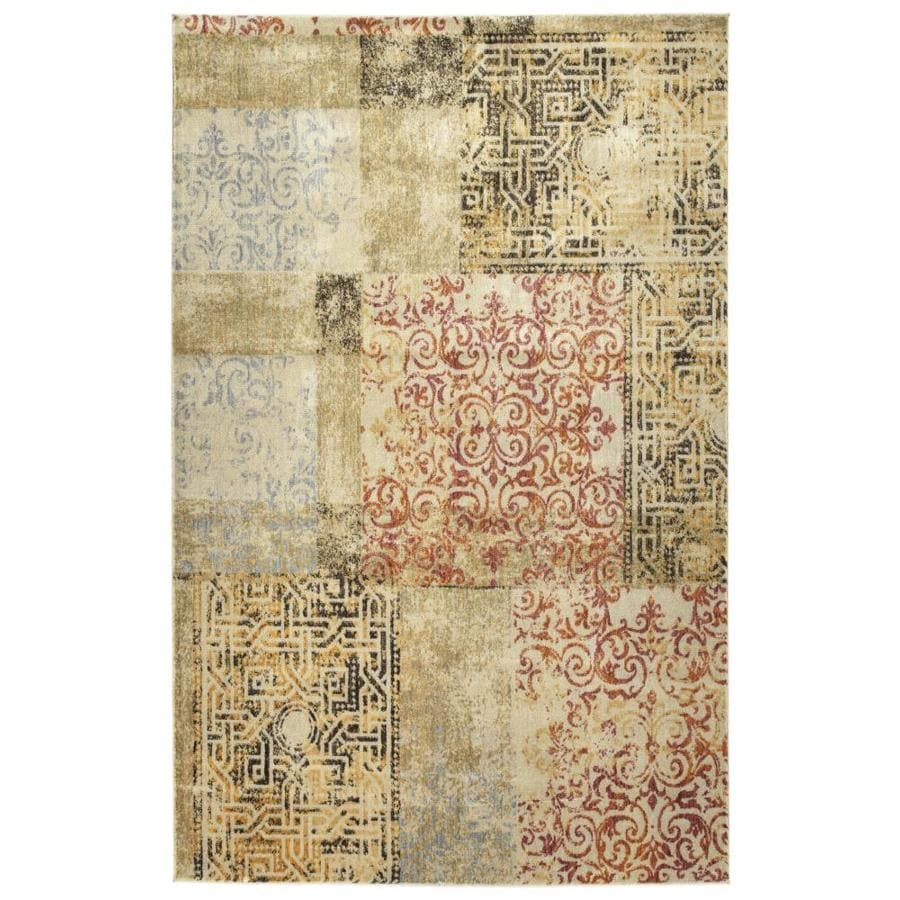 Kaleen Tiziano Distressed Throw Rug (Common: 4 x 5; Actual: 3.92-ft W x 5.25-ft L)
