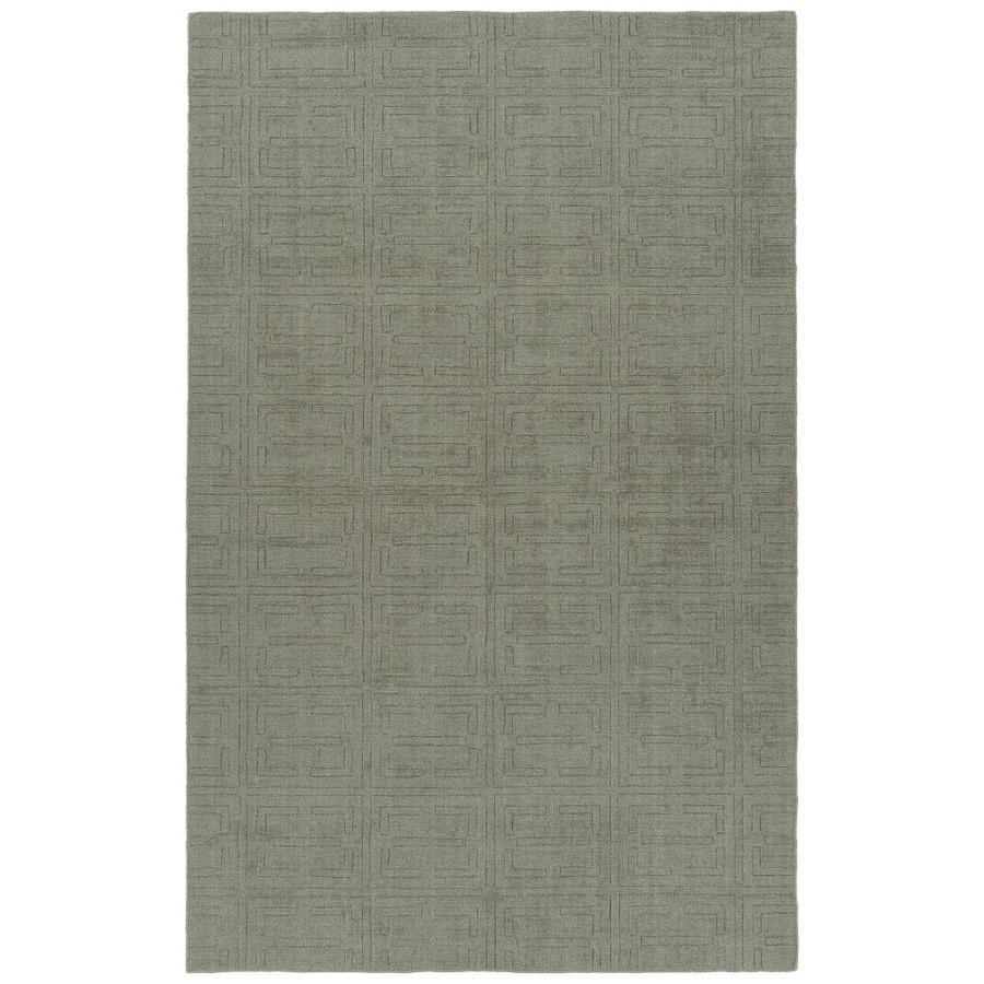 Throw Rug Purpose: Kaleen Minkah Grey Rectangular Indoor/Outdoor Handcrafted