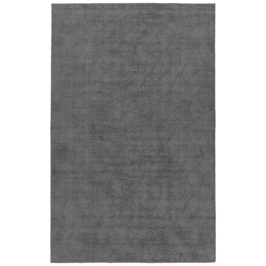 Throw Rug Purpose: Kaleen Minkah Charcoal Rectangular Indoor/Outdoor