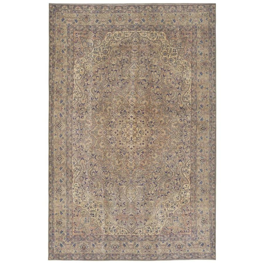 Kaleen Boho Patio 8 X 10 Taupe Indoor Outdoor Distressed Overdyed Vintage Area Rug In The Rugs Department At Lowes Com