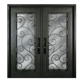 Marvelous Escon Bronze Painted Iron Double Entry Door With Insulating Core (Common: 72  In