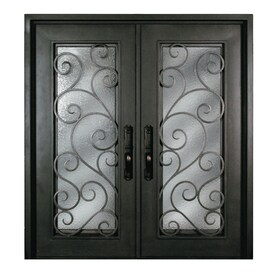 double entry door. Escon Bronze Painted Iron Double Entry Door with Insulating Core  Common 72 in Shop Doors at Lowes com