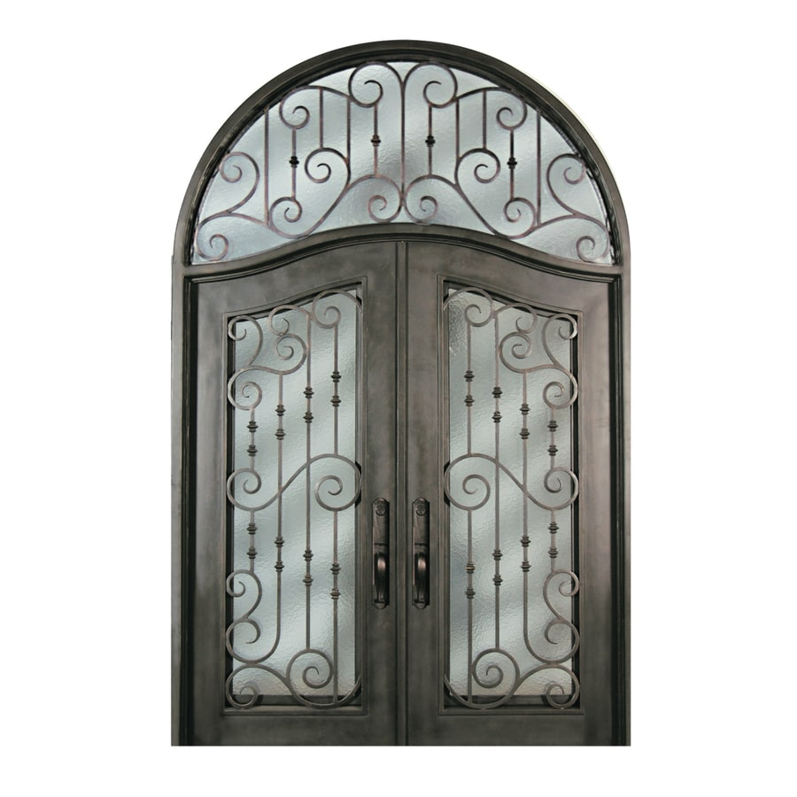 Shop Escon Right Hand Inswing Bronze Painted Iron Double Entry Door