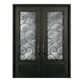Metal Entry Doors. Escon Bronze Painted Iron Double Entry Door with Insulating Core  Common 72 in Shop Doors at Lowes com