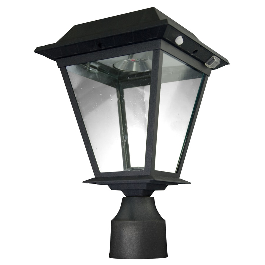 Shop Xepa 13 1 2 In Black Solar LED Post Light At