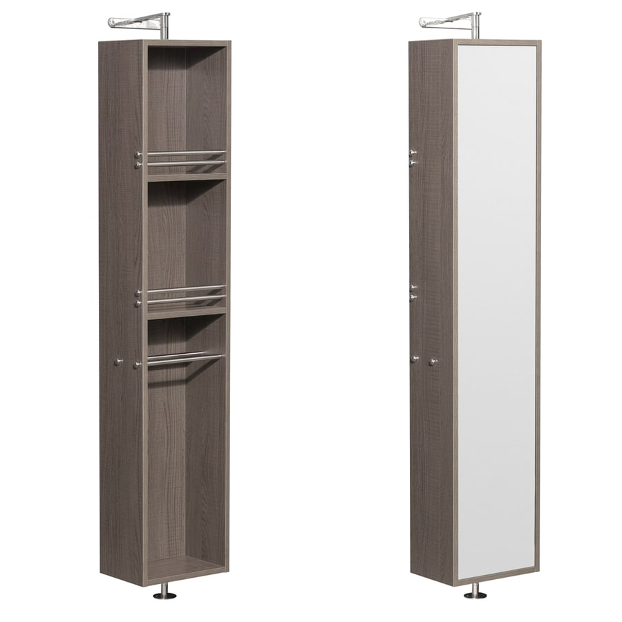 Wyndham Collection Amare 13.75-in W x 73-in H x 15-in D Gray Oak MDF Wall-Mount Linen Cabinet