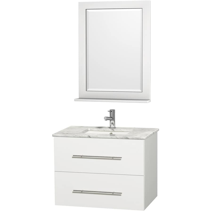 Wyndham Collection Centra 30-in White Single Sink Bathroom ...