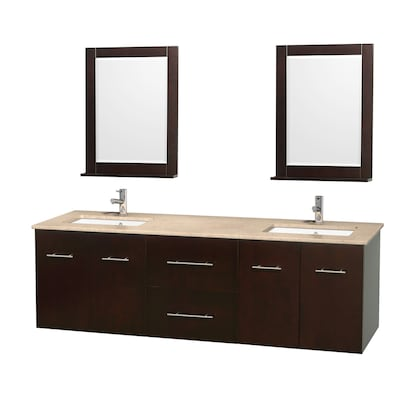 Brilliant Wyndham Collection Centra 72 In Espresso Double Sink Interior Design Ideas Tzicisoteloinfo