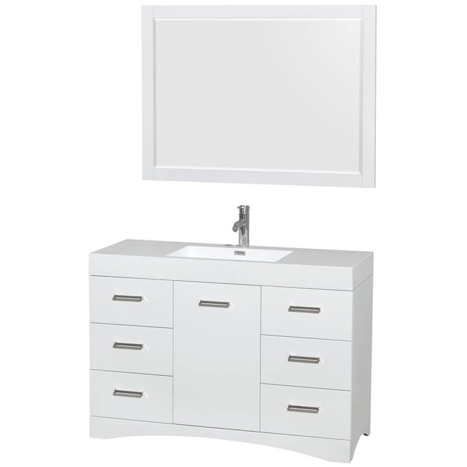 Single Sink Bathroom Vanity, 48 X 19 Bathroom Vanity