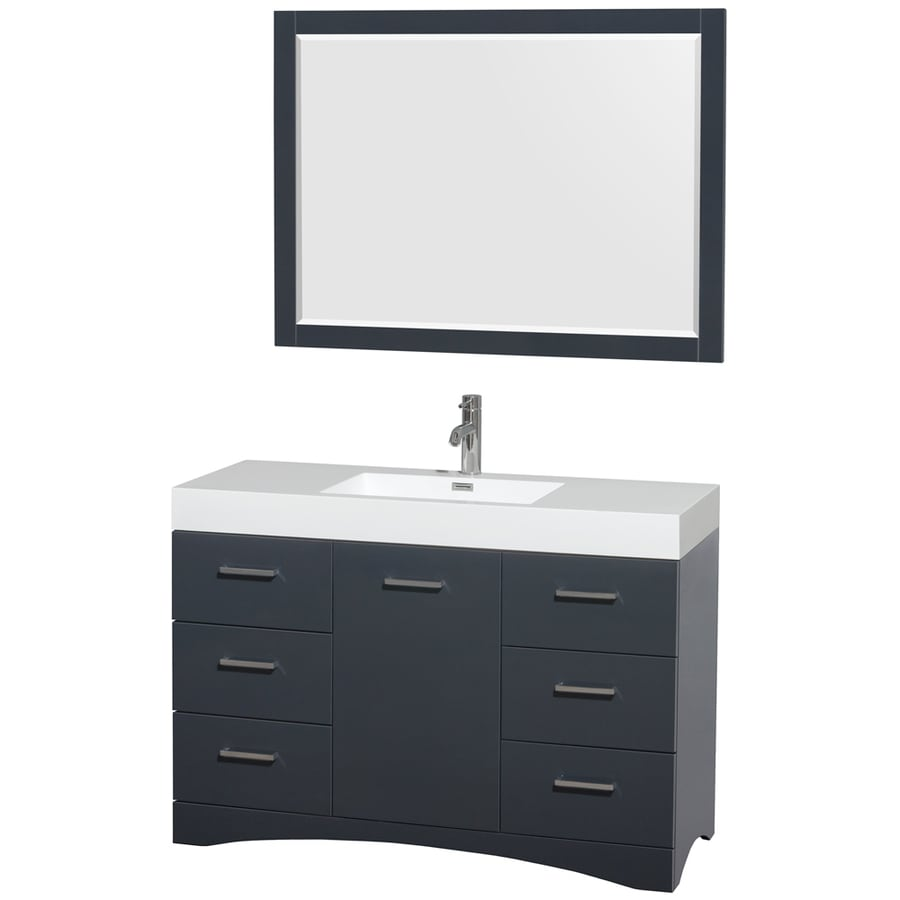 Wyndham Collection Delray Clay Integrated Single Sink ...