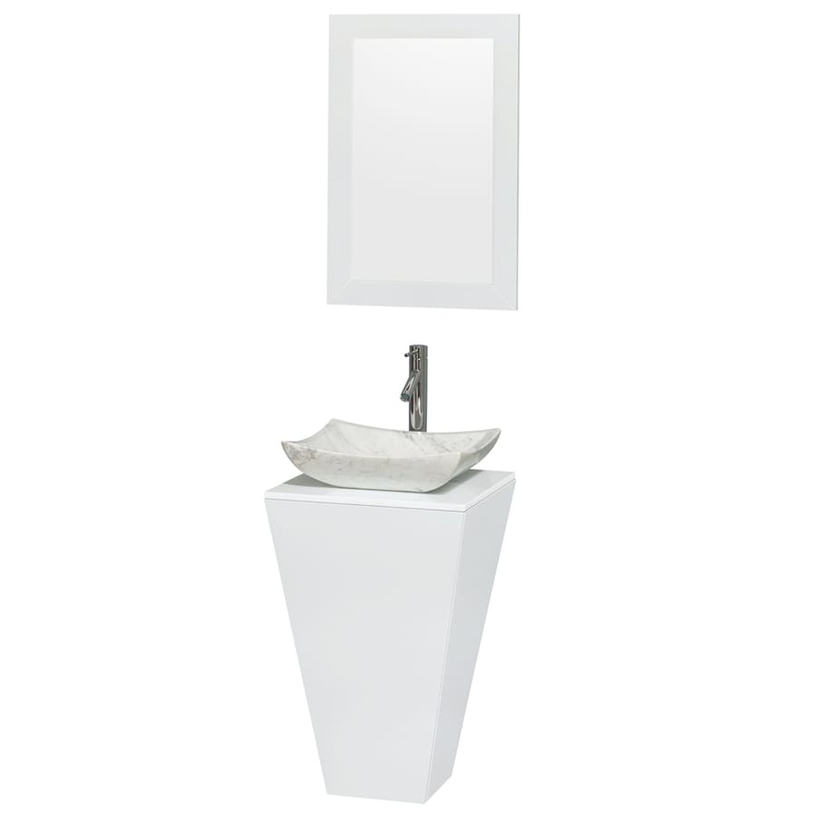 Wyndham Collection Esprit 20 In Glossy White Single Sink Bathroom
