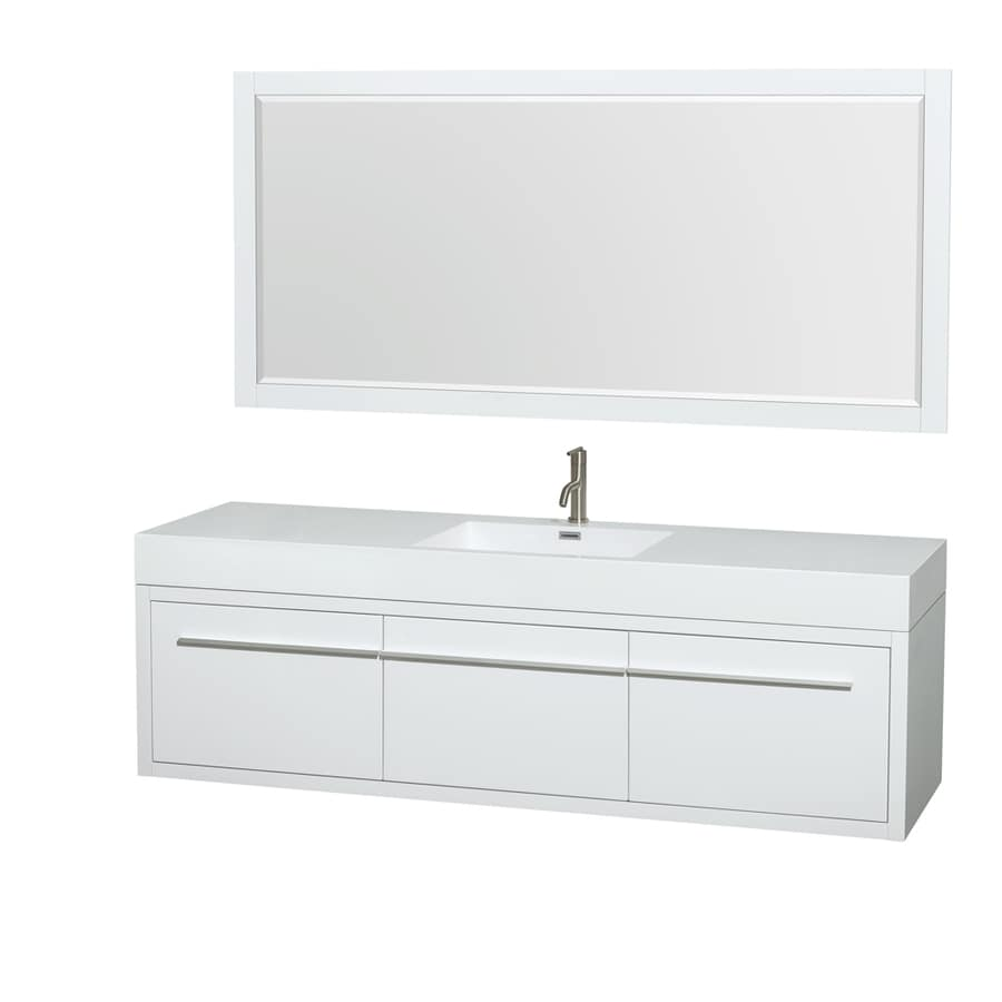 single sink bathroom vanity with acrylic top common 72 in x 22 in