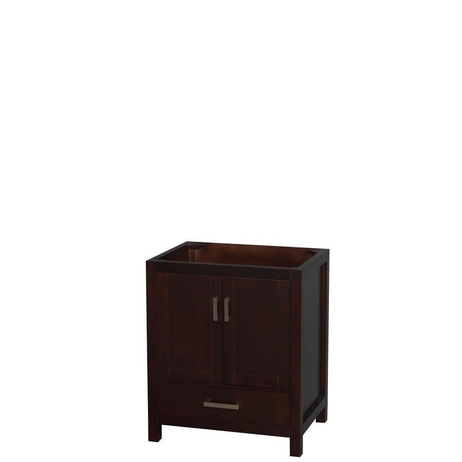 Wyndham Collection Sheffield Espresso Bathroom Vanity (Common: 30-in x 22-in; Actual: 29-in x 21.75-in)