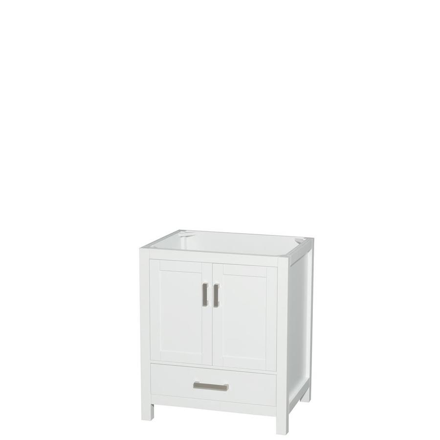Wyndham Collection Sheffield White 29-in Transitional Bathroom Vanity