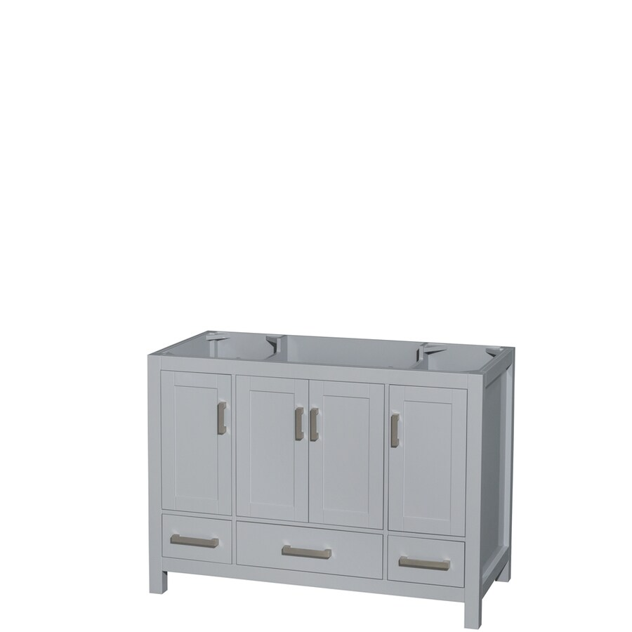 Wyndham Collection Sheffield Gray (Common: 48-in x 22-in) Transitional Bathroom Vanity (Actual: 47-in x 21.5-in)