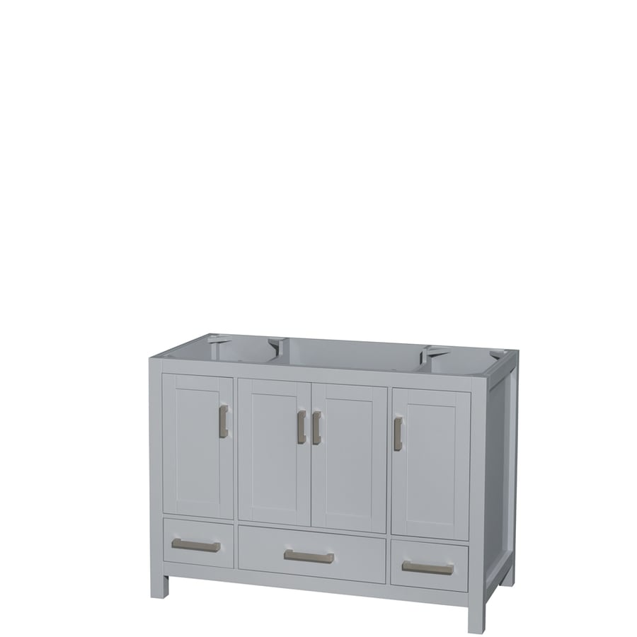 Wyndham Collection Sheffield Gray Bathroom Vanity (Common: 48-in x 22-in; Actual: 47-in x 21.5-in)