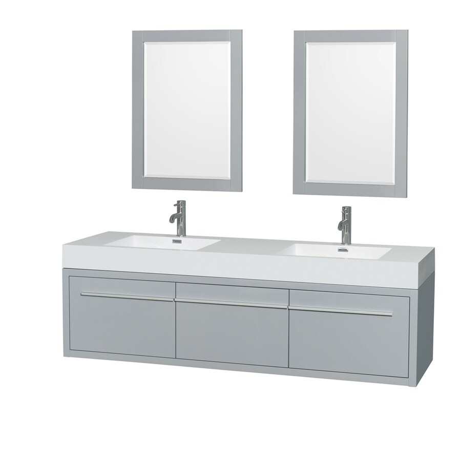 collection axa dove gray 72 in integral double sink bathroom vanity