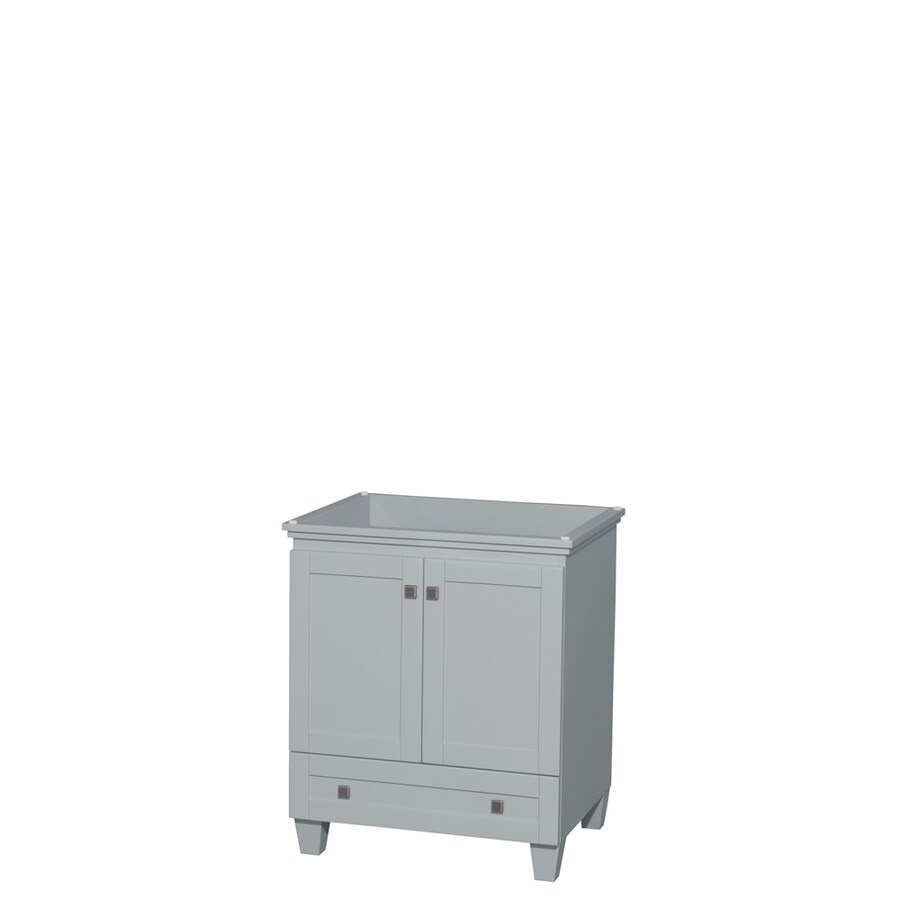 Wyndham Collection Acclaim Oyster Gray (Common: 30-in x 22-in) Transitional Bathroom Vanity (Actual: 29-in x 21.5-in)
