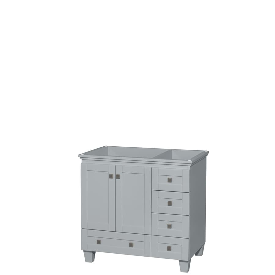 Wyndham Collection Acclaim Oyster Gray 35-in Transitional Bathroom Vanity