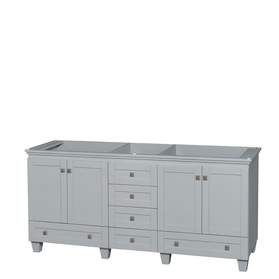 Wyndham Collection Acclaim Oyster Gray 71-in Transitional Bathroom Vanity