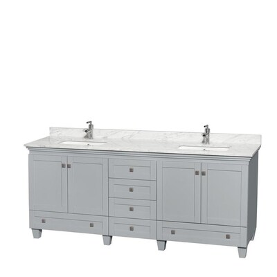Wyndham Collection Acclaim 80 In Oyster Gray Double Sink