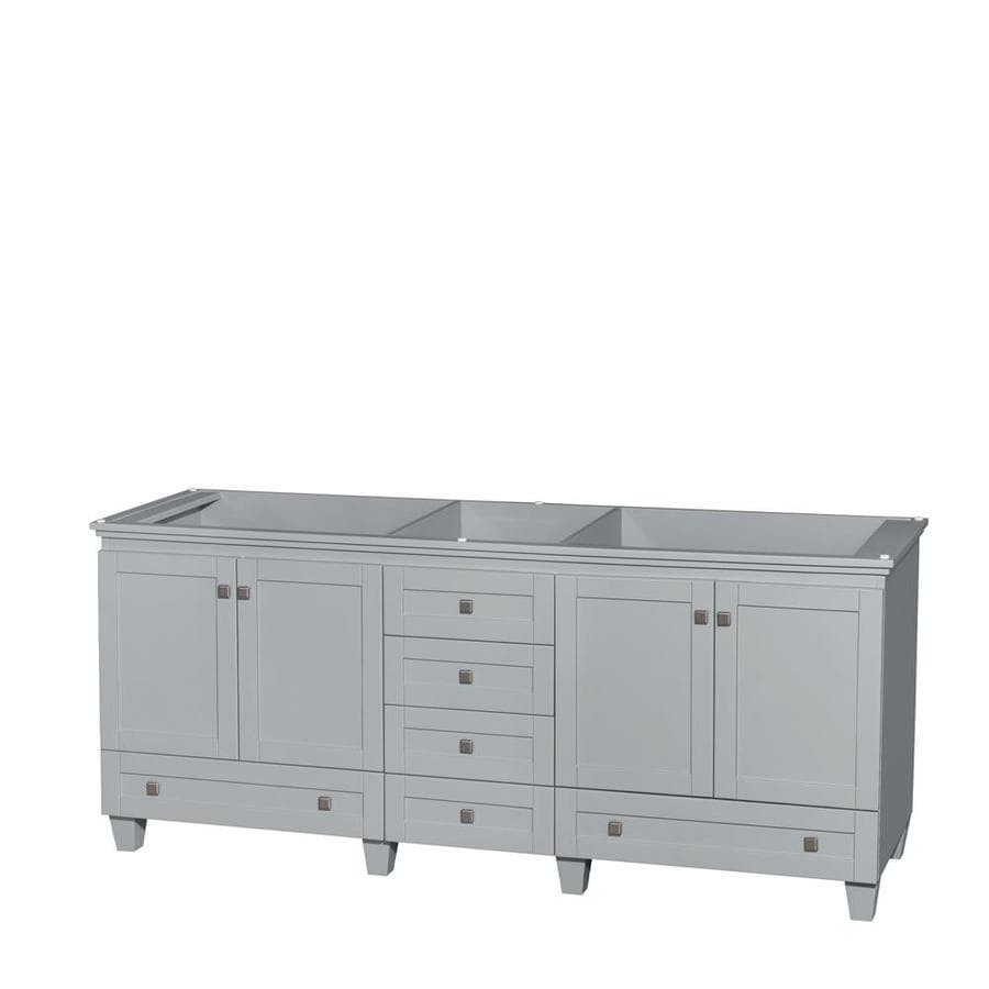 Wyndham Collection Acclaim Oyster Gray Bathroom Vanity (Common: 80-in x 22-in; Actual: 78.75-in x 21.5-in)