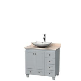 d vontz natural marble vessel single sink bathroom vanity top. wyndham collection acclaim oyster gray single vessel sink bathroom vanity with natural marble top (common d vontz