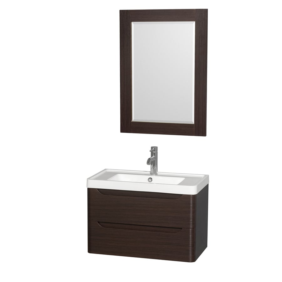 Wyndham Collection Murano Espresso Integrated Single Sink Bathroom Vanity with Acrylic Top (Common: 30-in x 17-in; Actual: 30-in x 16.5-in)