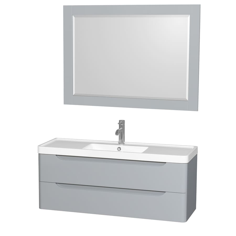 collection murano gray 48 in integral single sink bathroom vanity