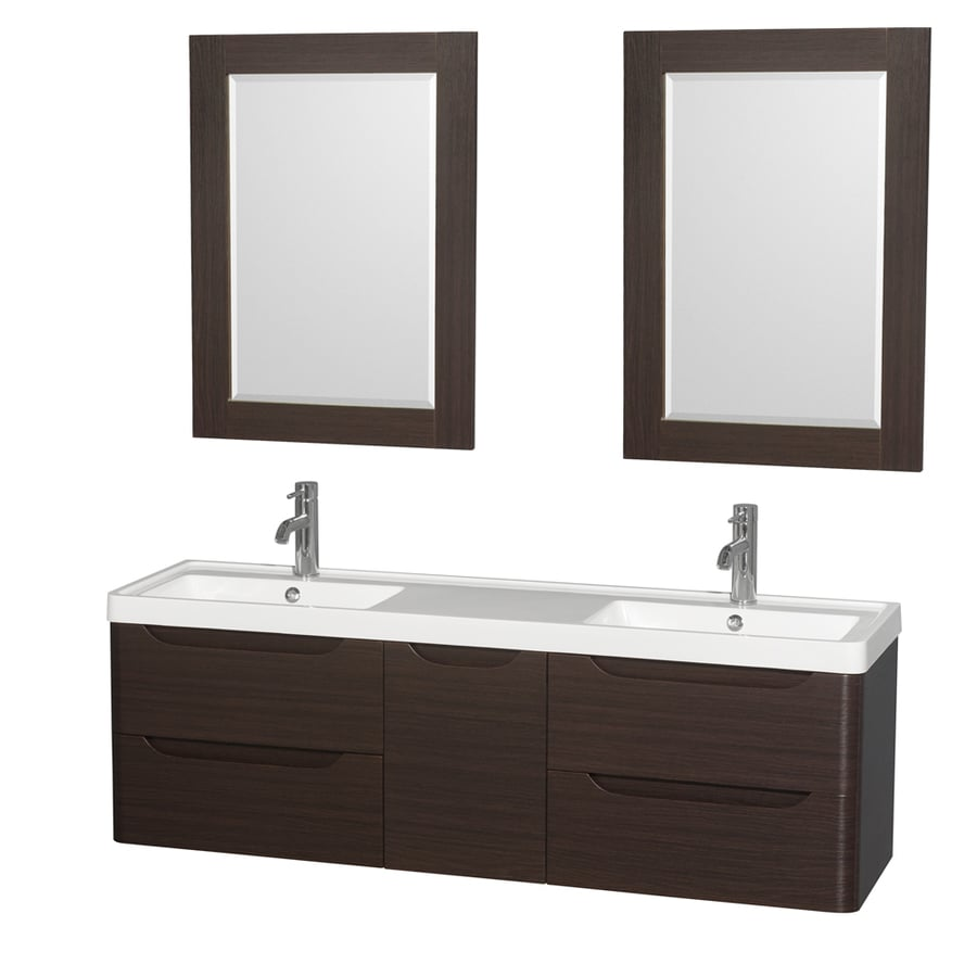 collection murano espresso 60 in integral double sink bathroom vanity