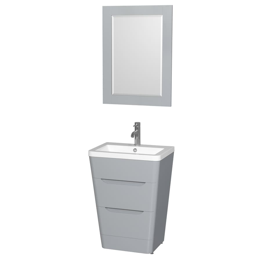Shop Wyndham Collection Caprice Gray 24 In Integral Single Sink Bathroom Vani