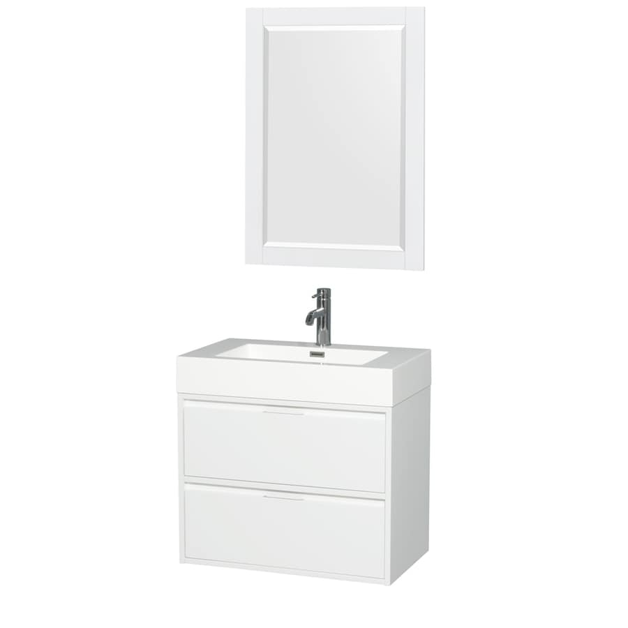 Wyndham Collection Daniella Glossy White Single Sink Vanity With Acrylic Top Common 30