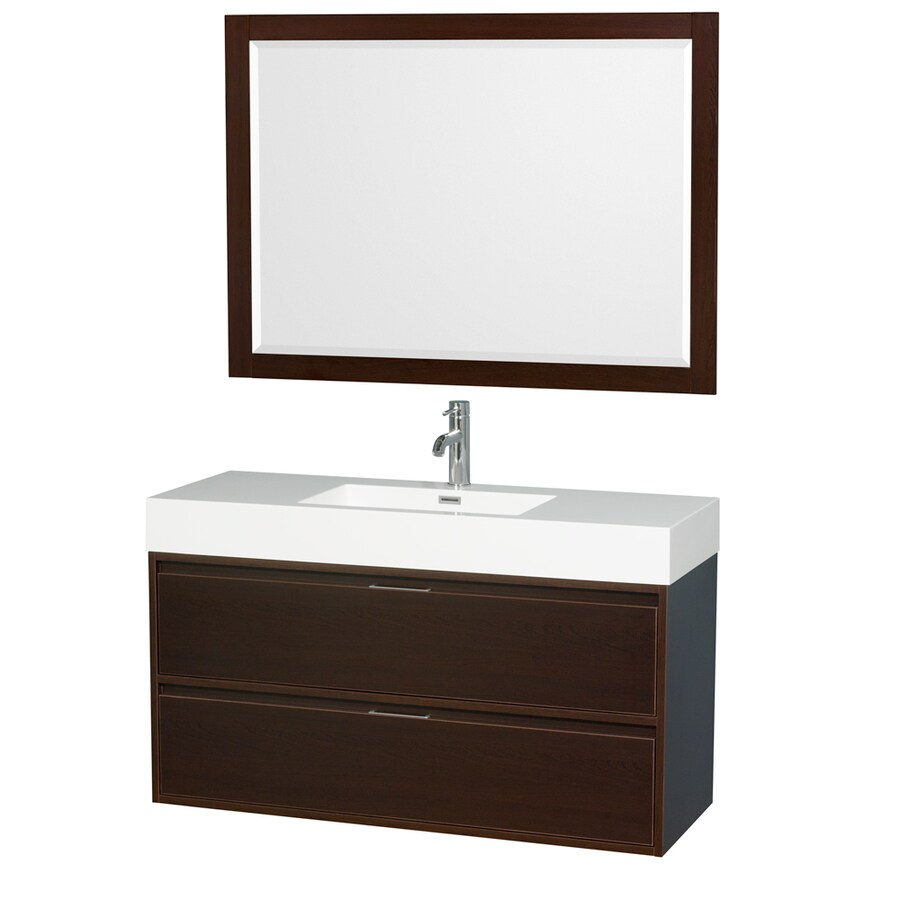 Wyndham Bathroom Vanities: Shop Wyndham Collection Daniella Espresso Integrated
