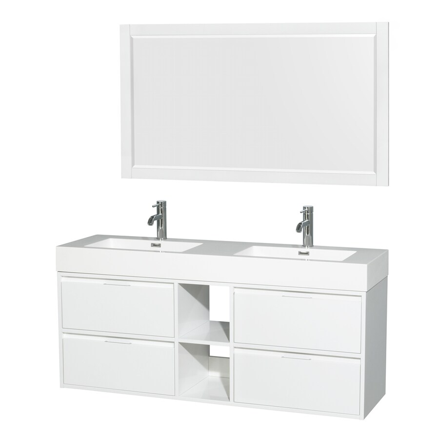 integral bathroom sink shop wyndham collection glossy white sink 13268