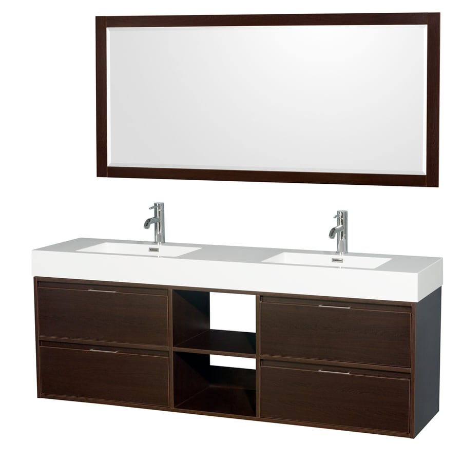 Shop wyndham collection daniella espresso integral double Stores to buy bathroom vanities