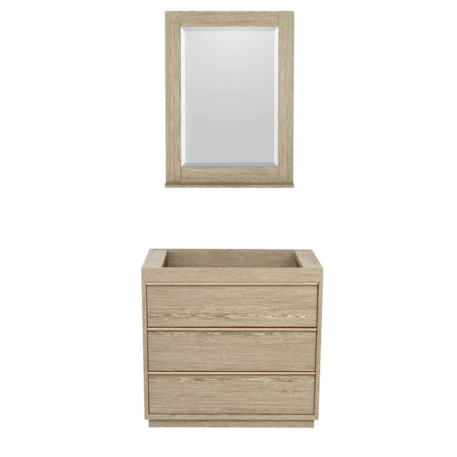 Wyndham Collection Naya Ash Gray Bathroom Vanity (Common: 36-in x 22-in; Actual: 35.5-in x 22-in)